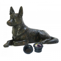 German Shepherd Dog Casket - Sculpted