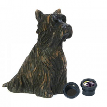 Yorkshire Terrier Dog Casket - Sculpted