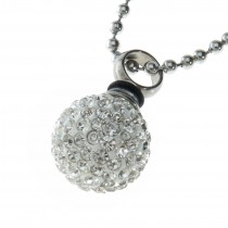 Crystal Encrusted Sphere Pendant