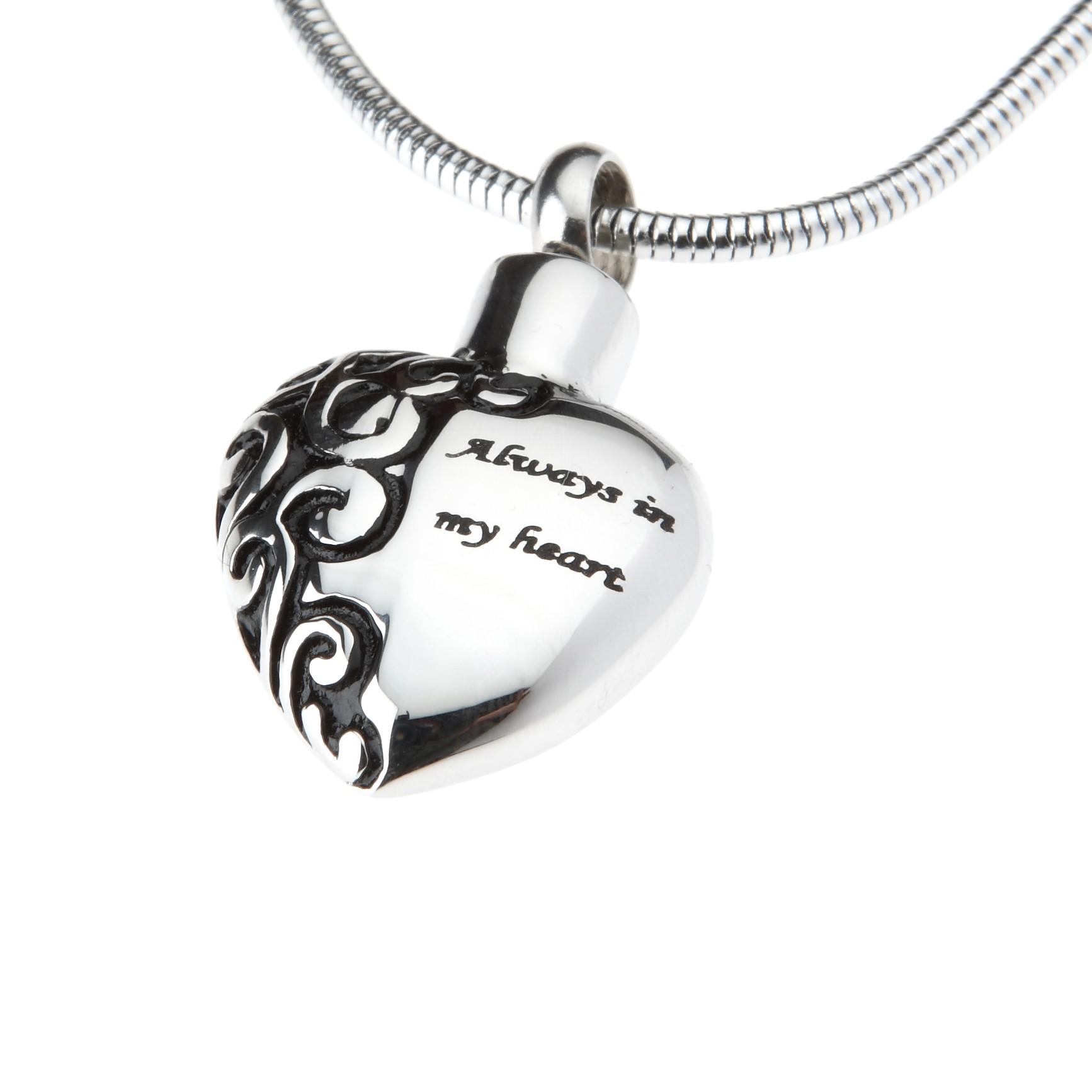 """Heart pendant - """"Always in my heart"""""""