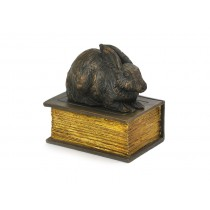 Rabbit on a Book Casket
