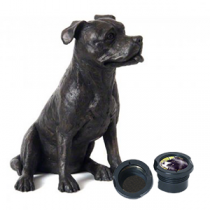 Staffie Dog Casket - Sculpted