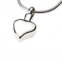 Polished Curved Heart Pendant