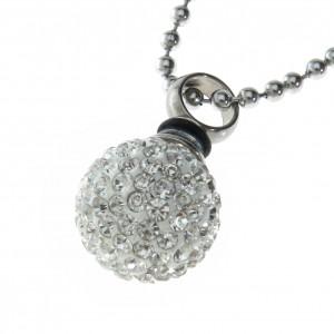 Crystal Encrusted Sphere Pendant